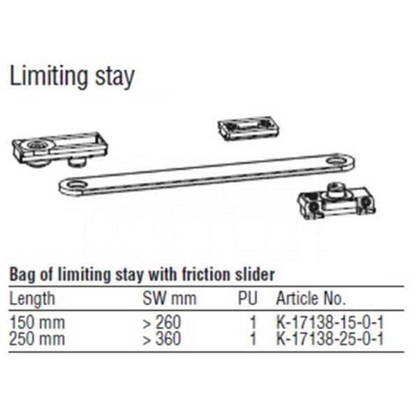 Limiting Stay 250mm 854-16674 1