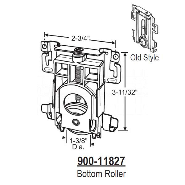 Closet Door Roller Assembly 900-11827 1