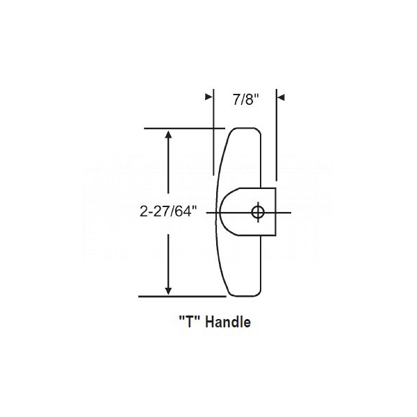 9-32 T Handle With Set Screw 37-123 1