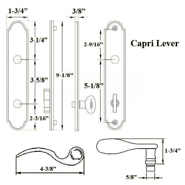 Capri Active Satin Chrome Handle Set 854-15763 2