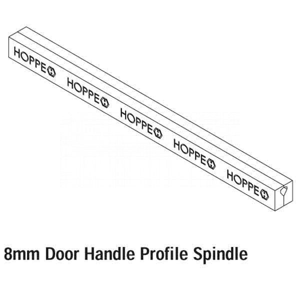 Hoppe 160mm x 8mm  Handle Spindle 519200 2