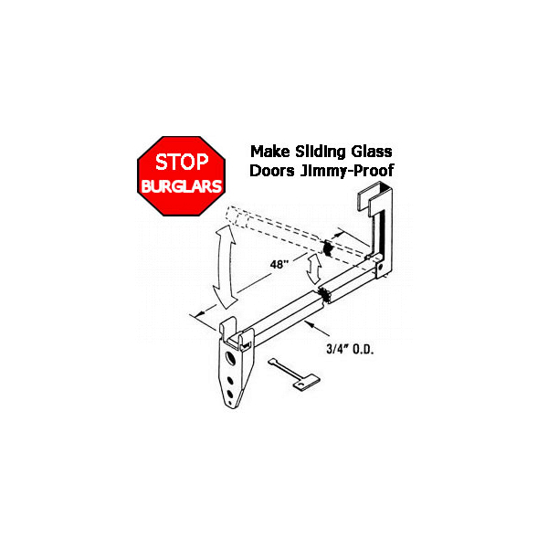Charley Bar Security Hardware 16-108 1
