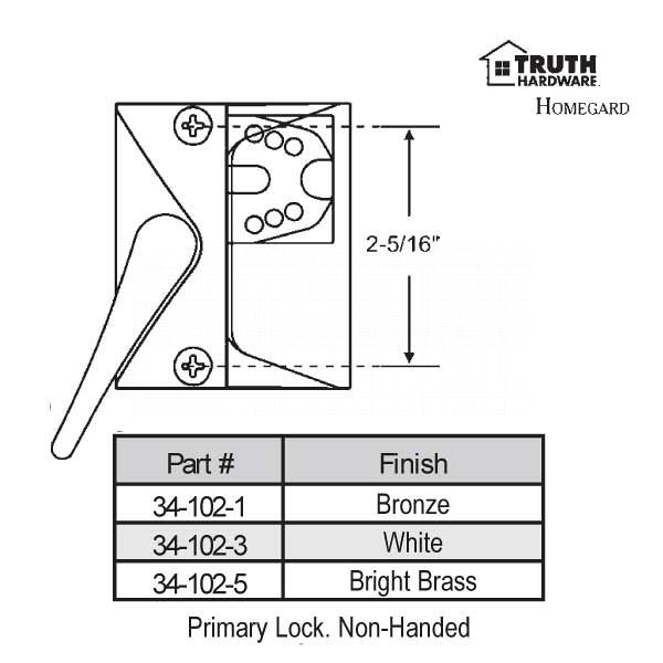 Casement Handle 34-102-5 1