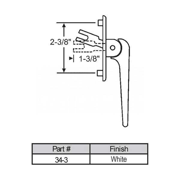 Casement Handle 34-3 1