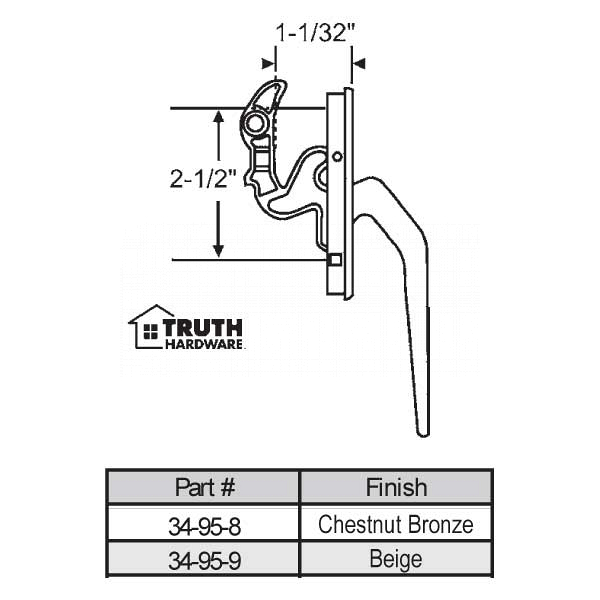 Casement Handle 34-95-8 1