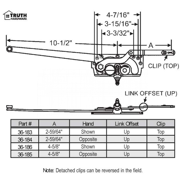 Sill Mounted Casement Operators 36-184 1