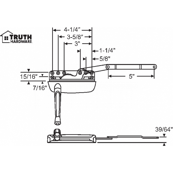 Sill Mounted Casement Operator 36-373-1 1