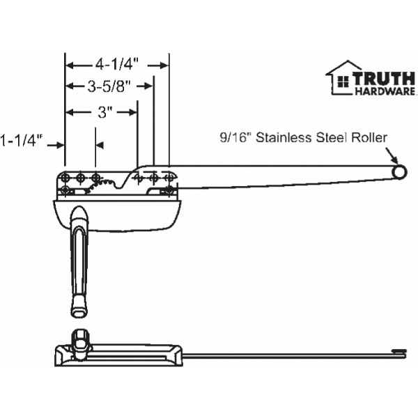 Sill Mounted Casement Operator 36-429-29 1
