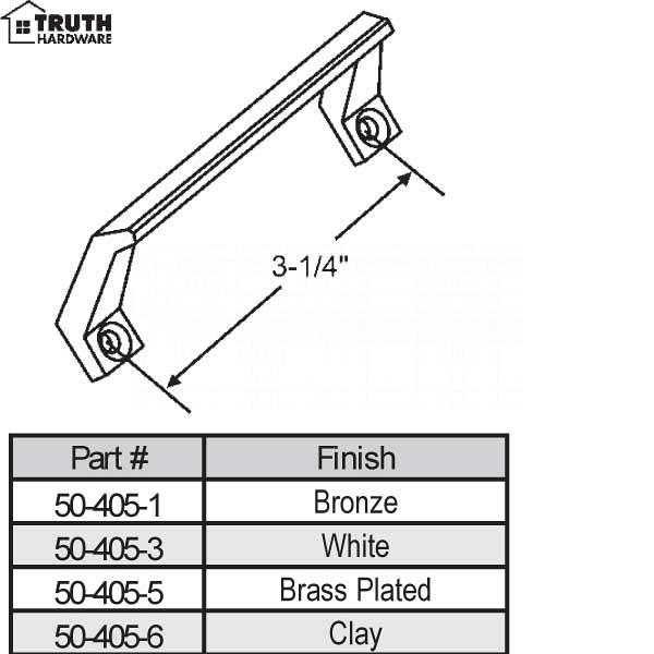 Extruded Sash Handles & Lifts 50-405-6 1