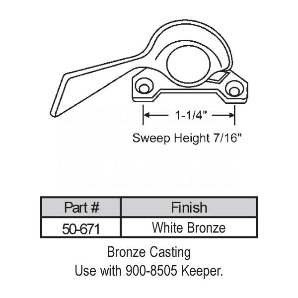 Sweep and Sash lock 50-671 1