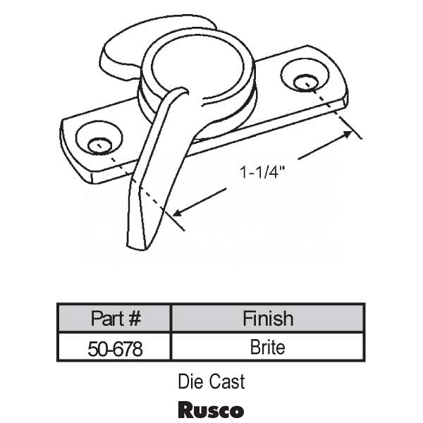 Sweep and Sash locks 50-678 1