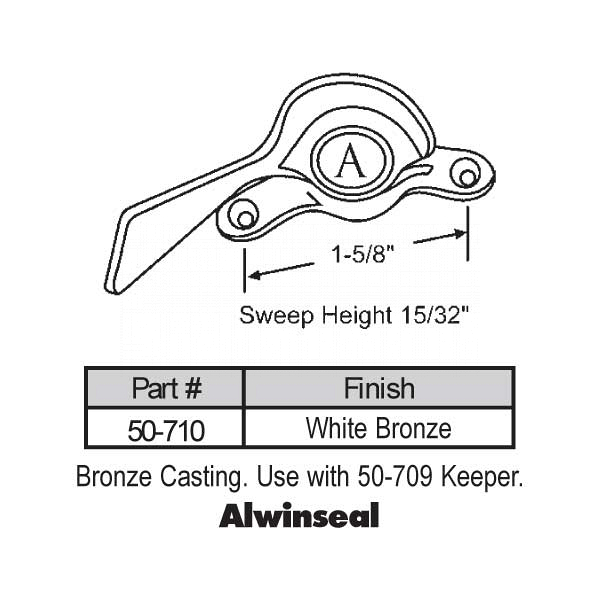 Sweep and Sash locks 50-710 1