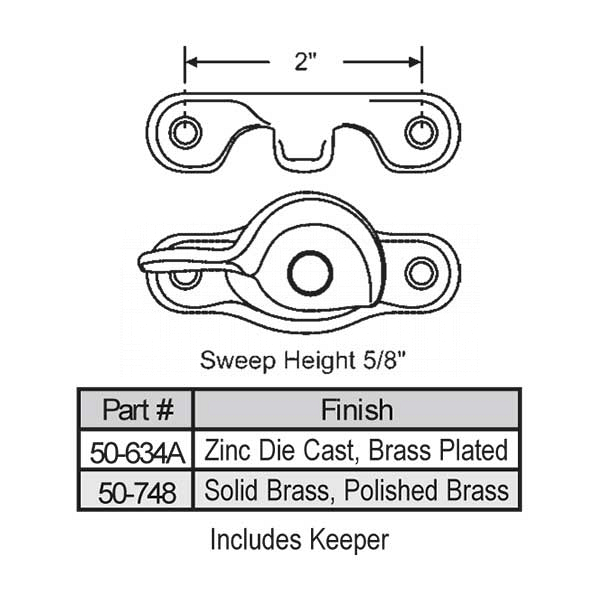 Sweep and Sash lock 50-748 1