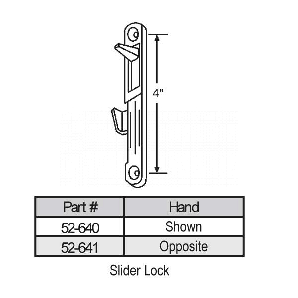 Latches-Spring Type Slider 52-640 1
