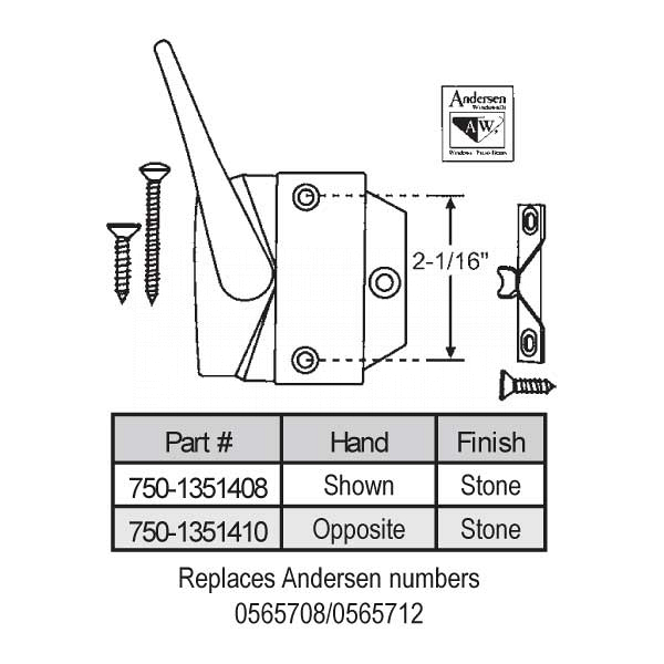 Casement Handle 750-1351408 1
