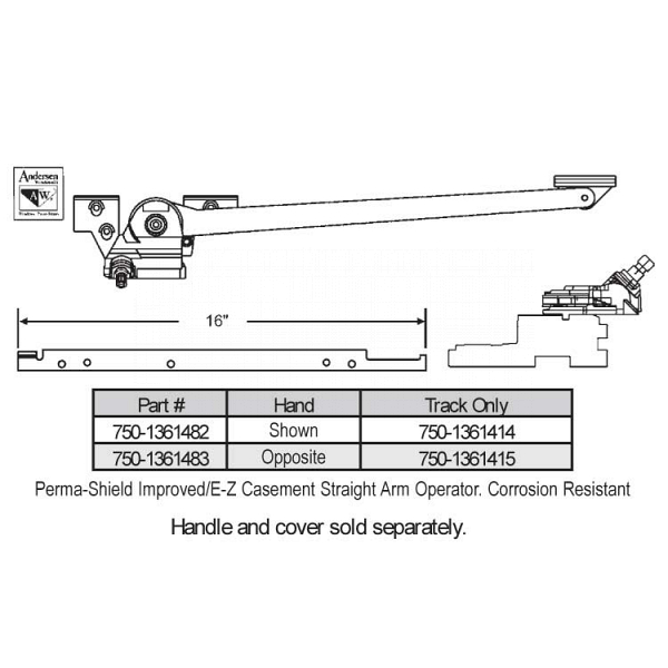 Sill Mounted Casement Operator 750-1361482 1