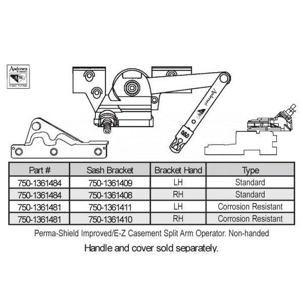Sill Mounted Casement Operator 750-1361484 1