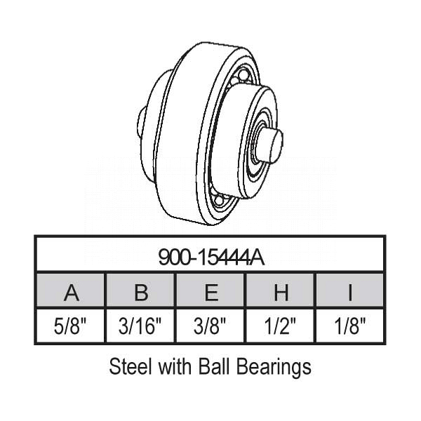 Sliding Window Wheels 900-15444A 1