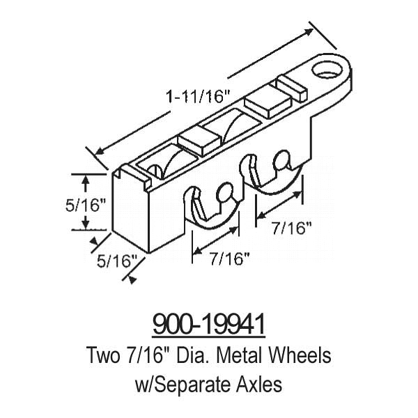 Sliding Window Rollers 900-19941 1
