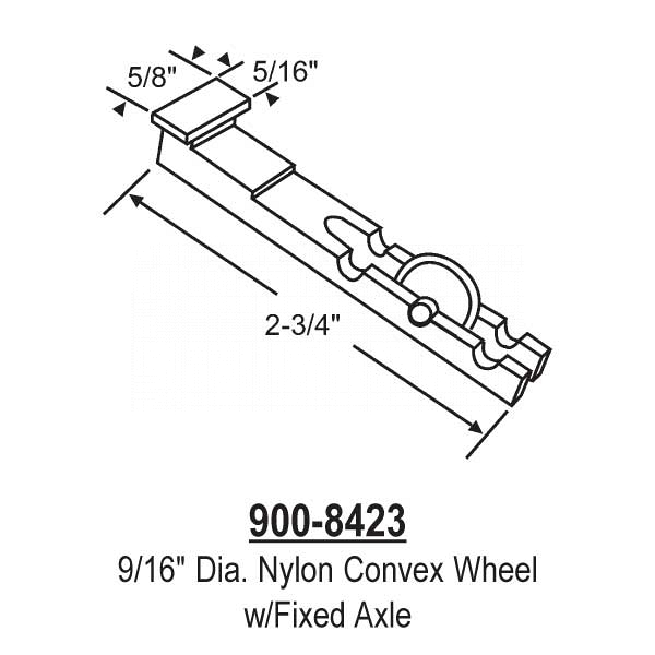 Sliding Window Rollers 900-8423 1