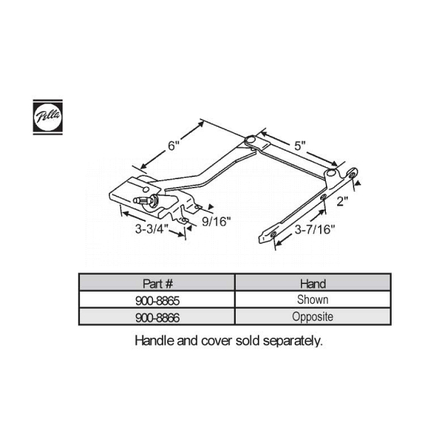 Sill Mounted Casement Operator 900-8865 1