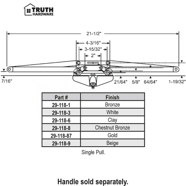 Truth Awning Operator 29-118-6 1