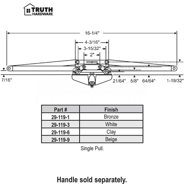 Truth Awning Operator 29-119-1 1