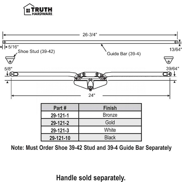 Truth Awning Operator 29-121-2 1