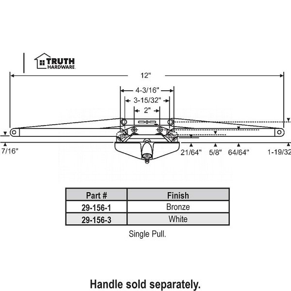 Truth Awning Operator 29-156-3 1