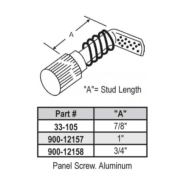 Jalousie Panel Screw 7-8 inch  33-105 1