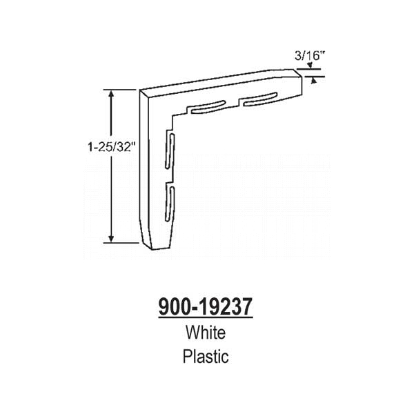 Internal Plastic Corner 900-19237*25 1