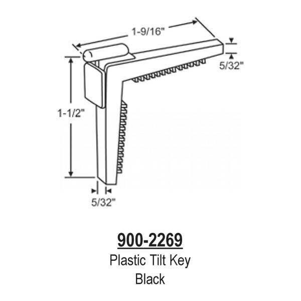 Tilt Key, Plastic-White  900-2269 1