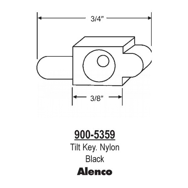 Black Nylon Tilt Key  900-5359 1