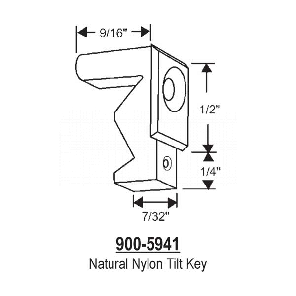 Natural Nylon Tilt Key  900-5941 1