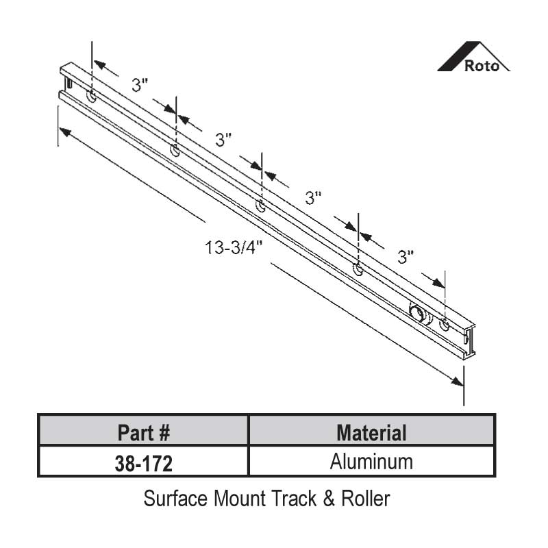 Surface Mount Track-Roller 38-172
