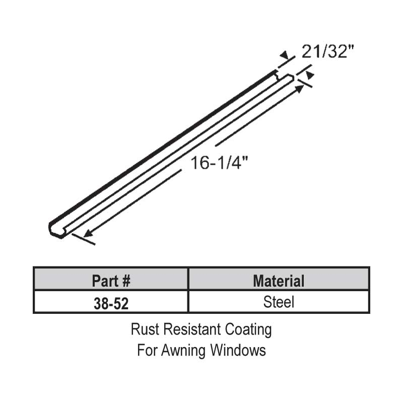 Awning Track 38-52