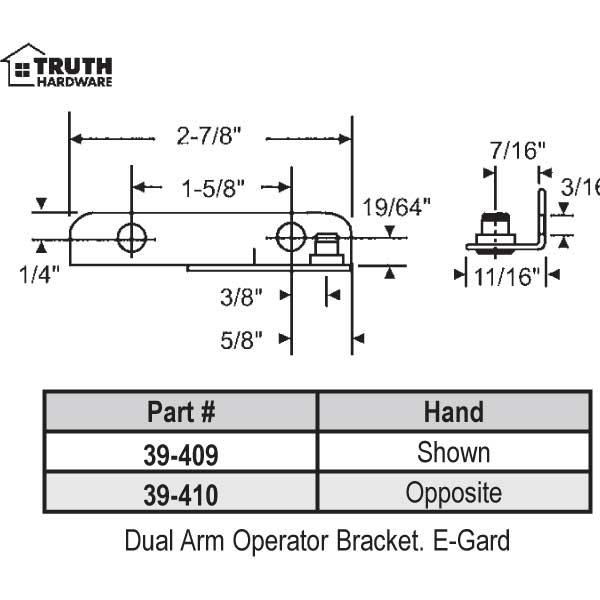 Dual Arm Operator Bracket 39-409