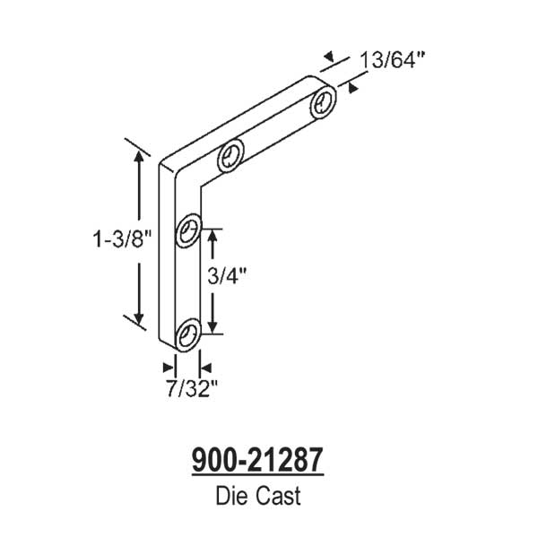 Corner Key-Die Cast  900-21287