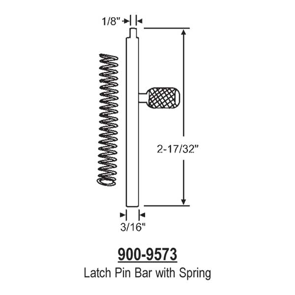Latch Pin Bar 900-9573